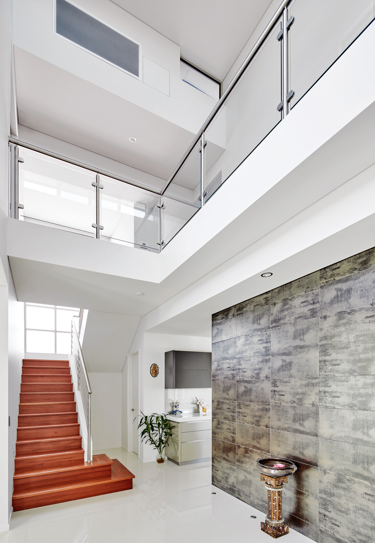 white interior of home
