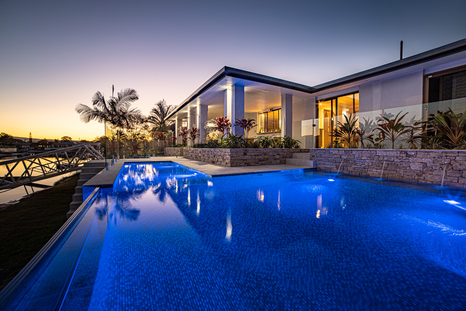 Why not holiday in your own backyard with a stunning Bali-inspired pool?